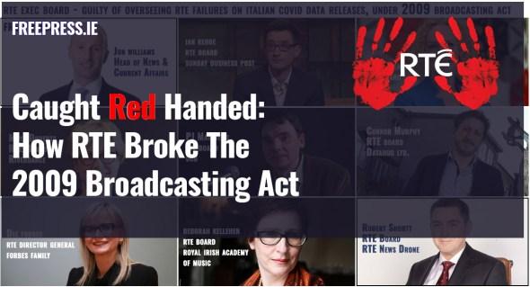 rte covid broke broadcasting act