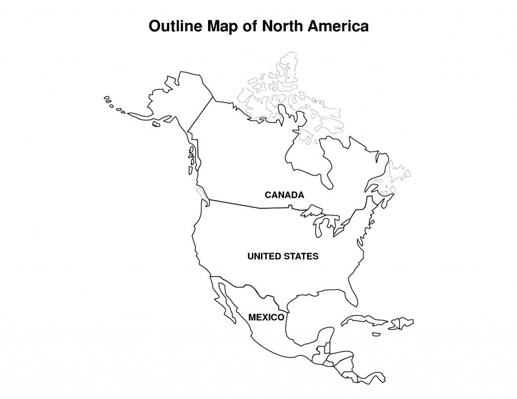 North America Political Map Printable
