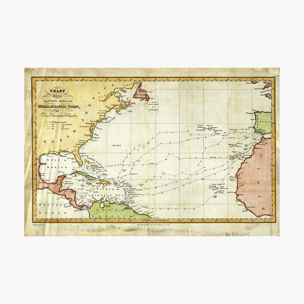 Printable Map Of Christopher Columbus Voyages