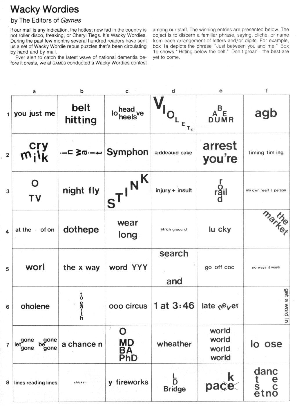 Free Printable Brain Teaser Worksheets