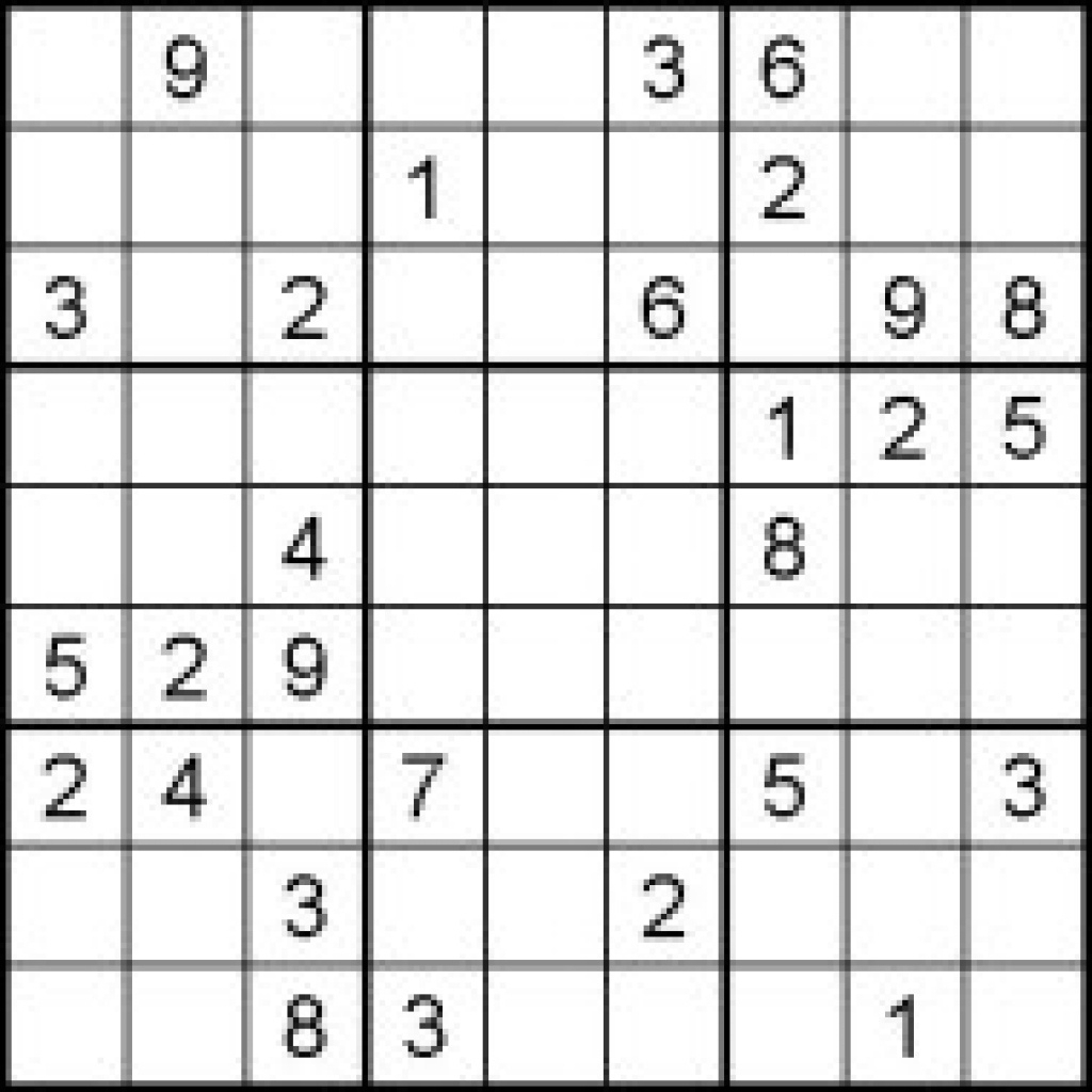 Worksheets Sudoku Puzzles