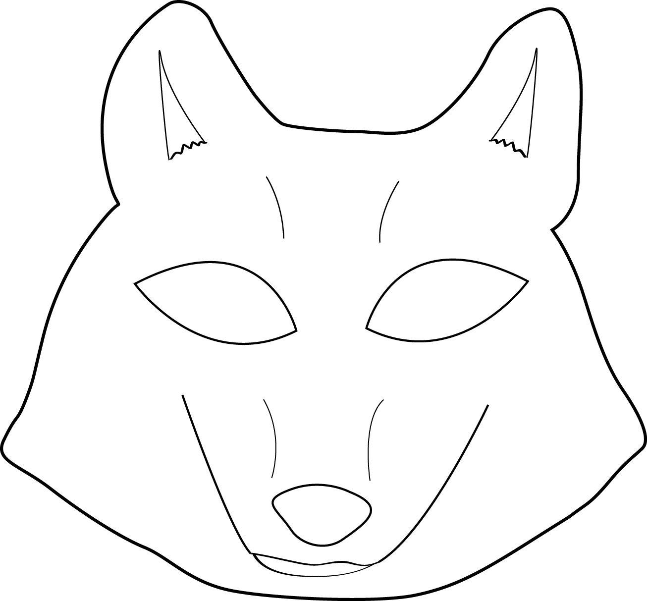 Free Printable Wolf Mask