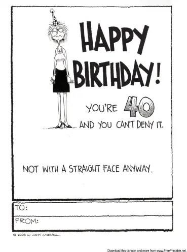 40th Birthday Cards Free Printable : birthday, cards, printable, Birthday, Greetings