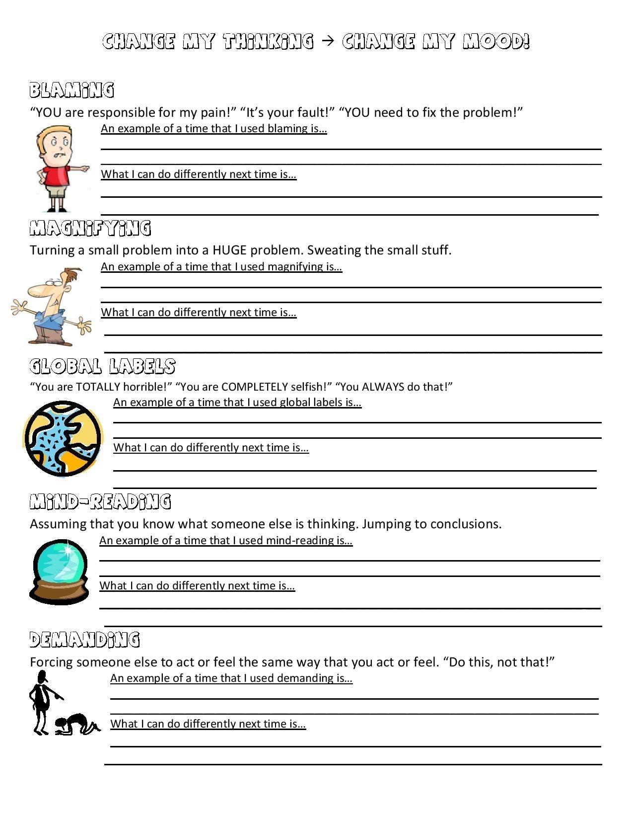 Anger Management Worksheet