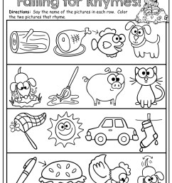 Rhyming Words Worksheets   Printable Worksheets and Activities for  Teachers [ 1325 x 1024 Pixel ]