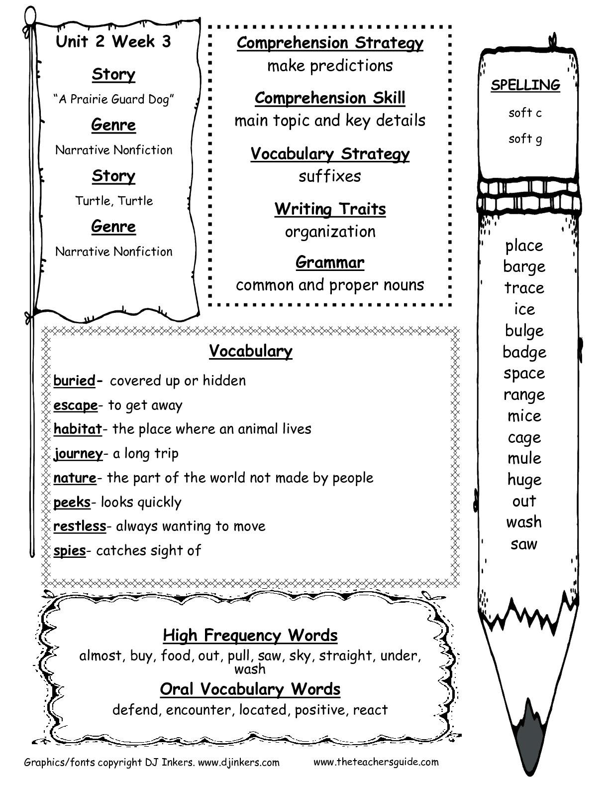 Free Printable Worksheets For 2nd Grade Social Stu S