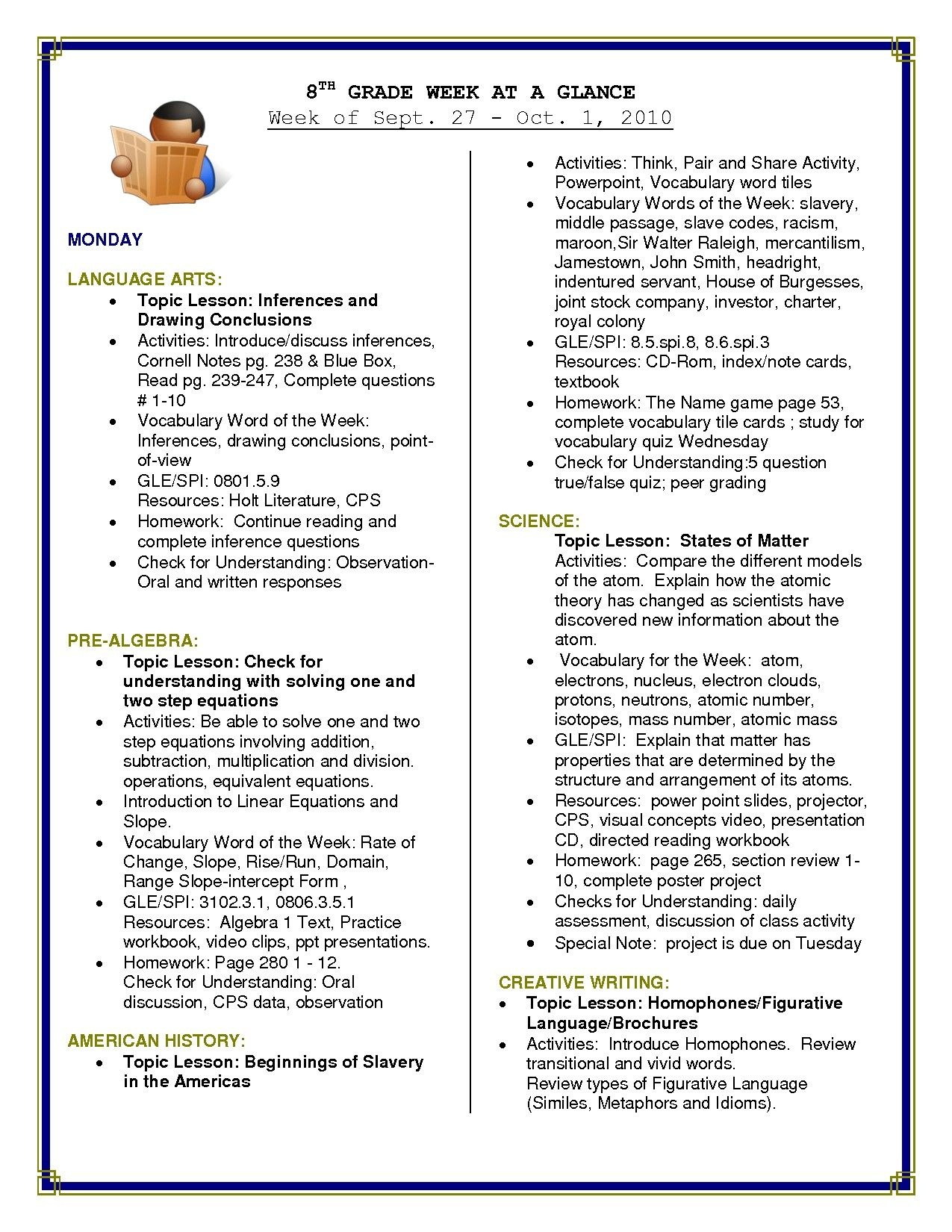hight resolution of 8th Reading Worksheets   Printable Worksheets and Activities for Teachers