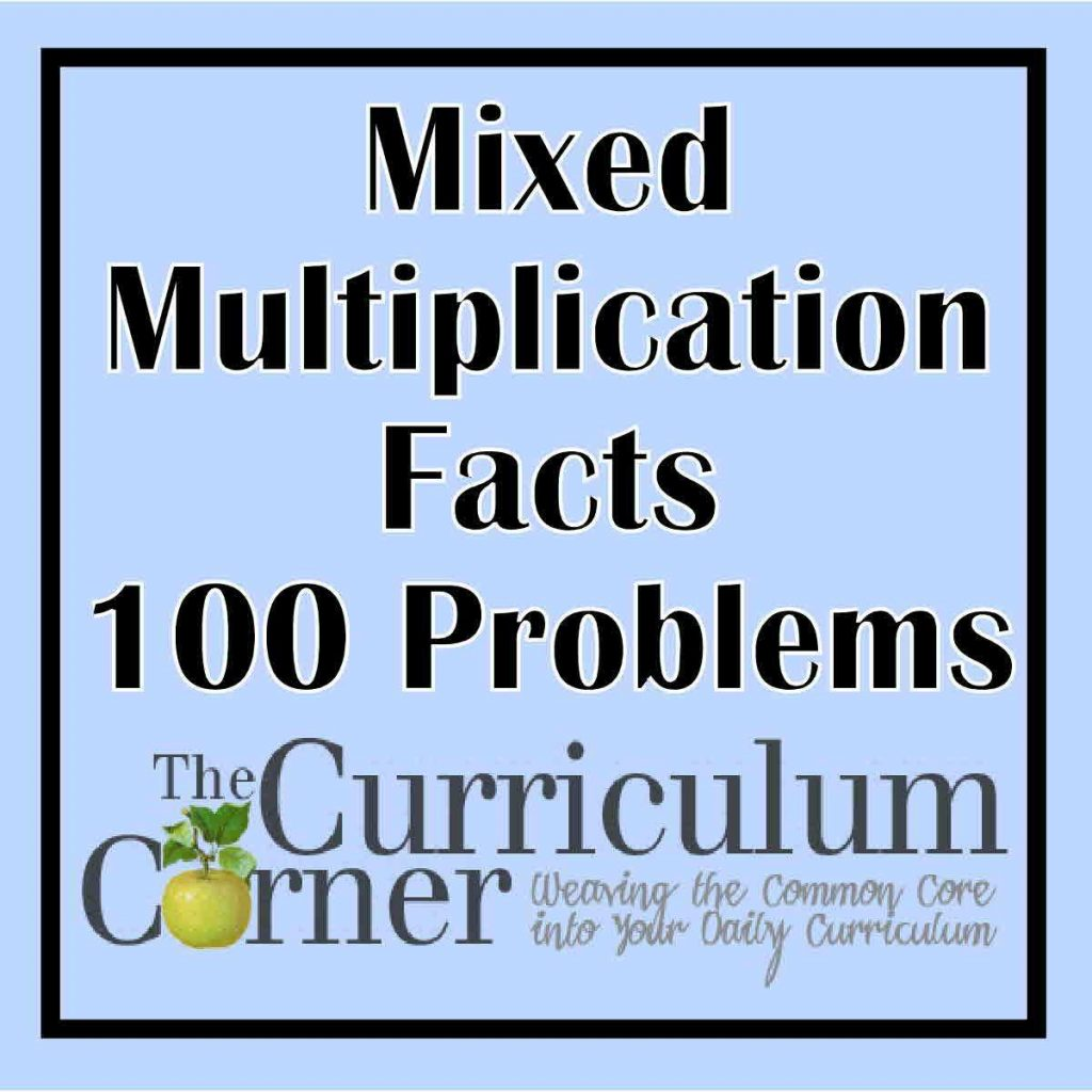 Mixed Multiplication Facts 100 Problems