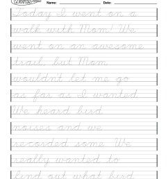 Cursive Writing Worksheets 4th Grade   Printable Worksheets and Activities  for Teachers [ 1651 x 1275 Pixel ]