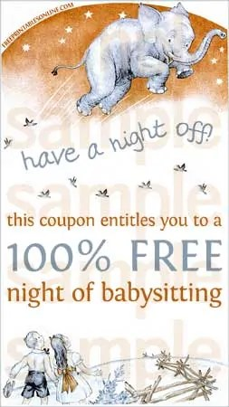 Have A Night Off Printable Babysitting Voucher