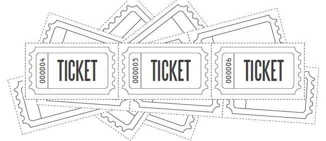 Customize Printable Raffle Ticket Blanks