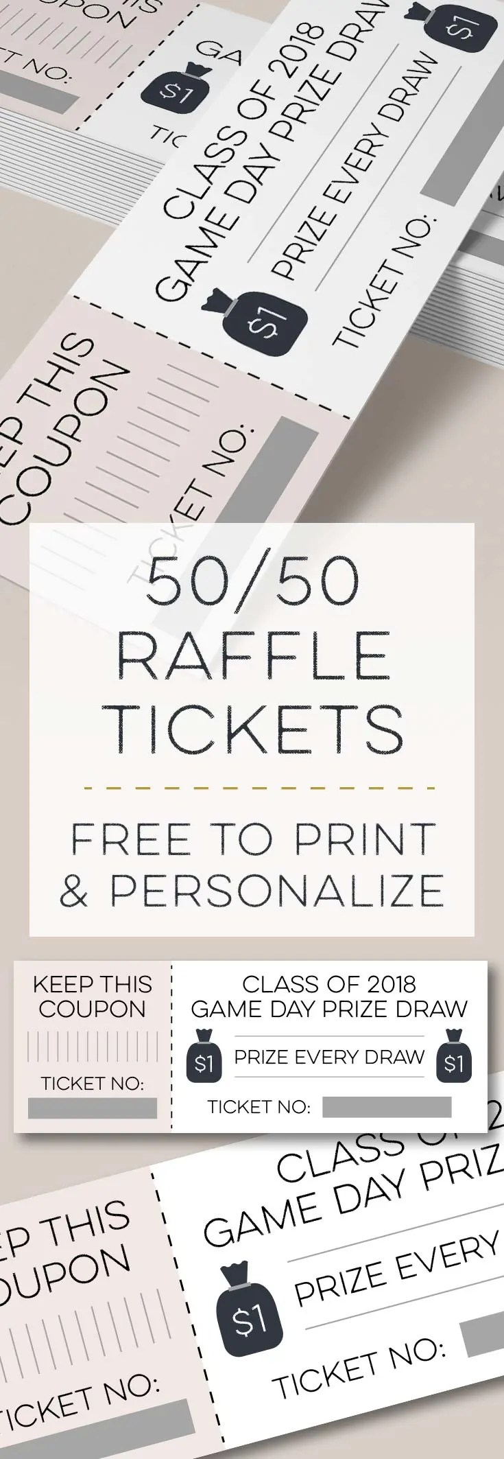 Moneybags 5050 Raffle Tickets Free Printables Online