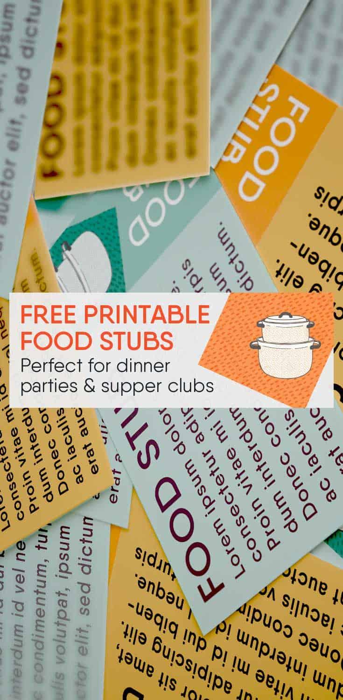 Free Printable Food Stubs Tickets Free Printables Online