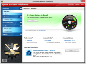 System Mechanic Pro Serial key With Crack & Patch