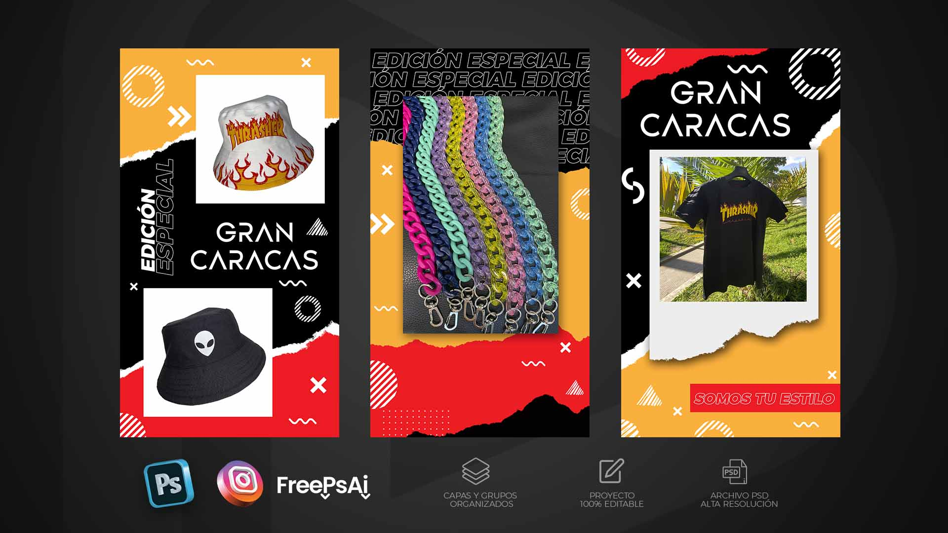Pack Historias para Instagram Estilo Urbano
