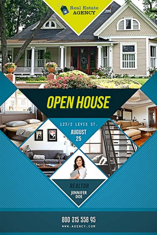 Free Open House Flyer Template Download PSD For Photoshop