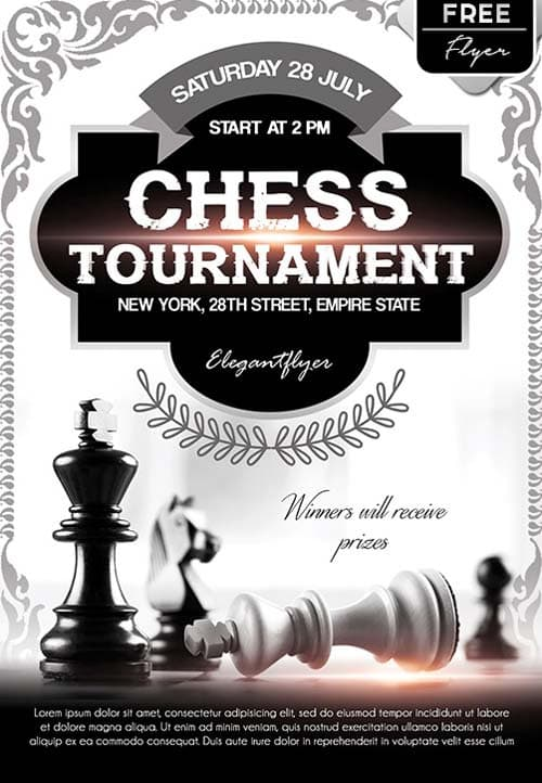 Download The Chess Tournament Event Free Flyer Template