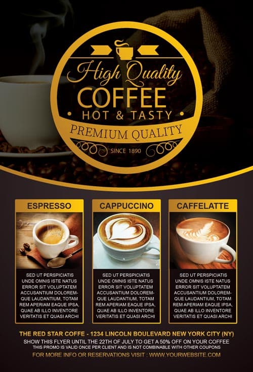 Coffee Special Promotion Flyer Template For Photoshop