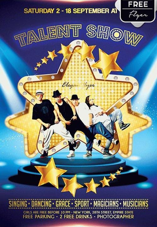 talent show flyer background