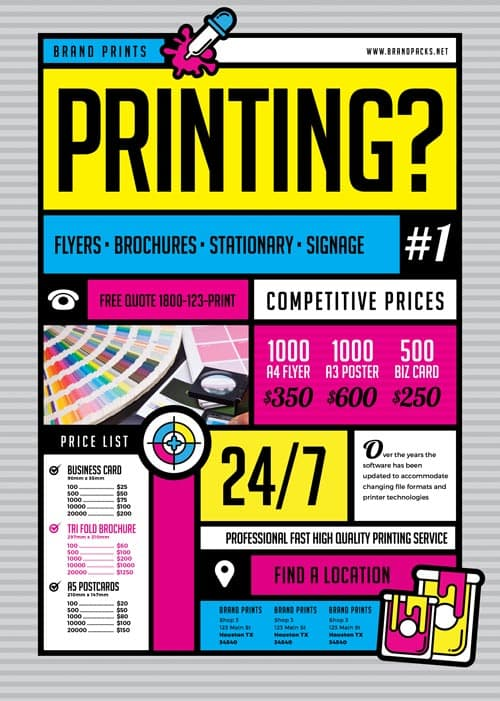 Freepsdflyer  Free Print Shop Flyer Template  Download