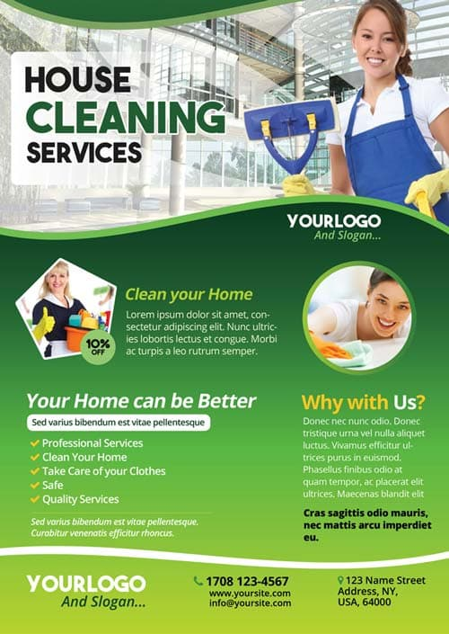 Cleaning Service Free PSD Flyer Template Download Free