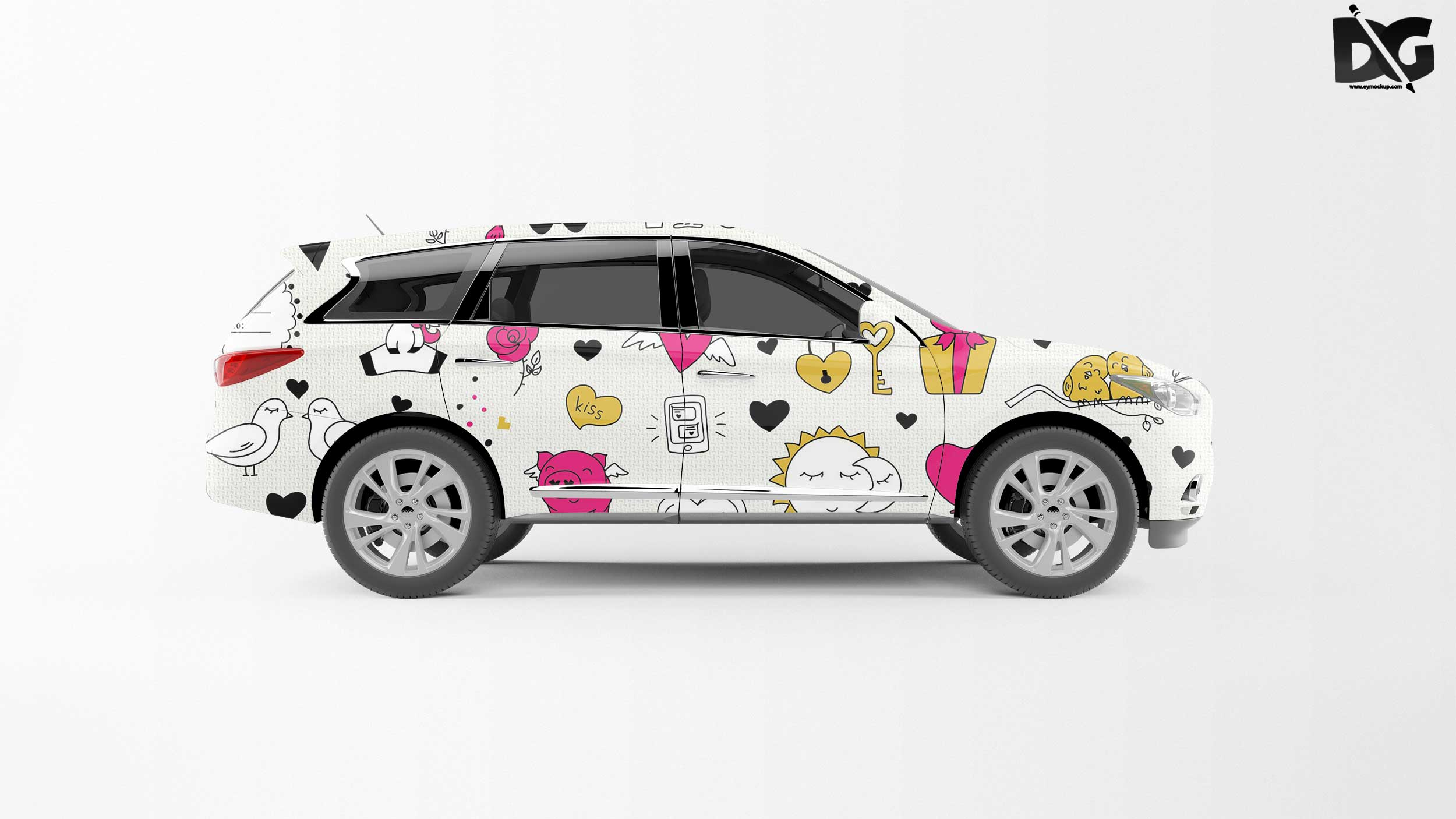 It is ideal for your company cars to preview your graphic on the car before go into production. Free Innova Car Wrap Mockup Free Psd Freebies Mockup