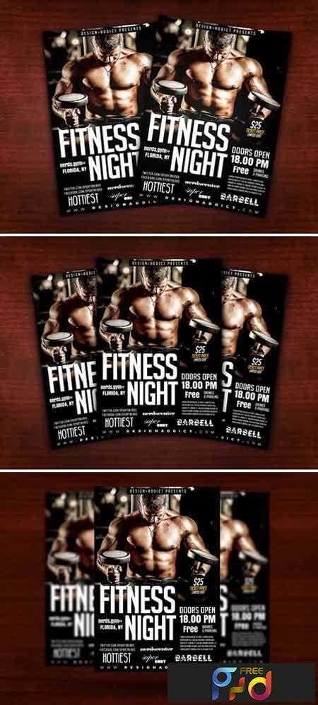 1708061 Fitness Flyer 2025171 • FreePSDvn