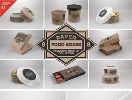 Download 1805029 VOL.8 Food Box Packaging Mock Ups 2088334 - FreePSDvn