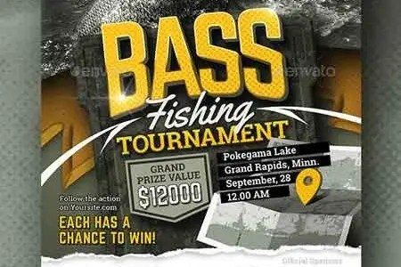 Bass Fishing Tournament Flyer 22718192 FreePSDvn