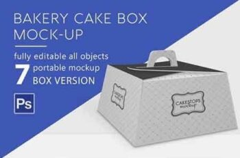 This free psd file was found. Bakery Cake Box Mockup 2898231 Freepsdvn
