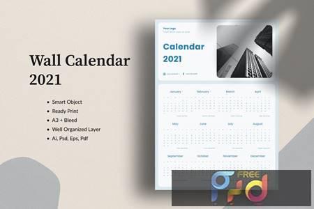 Download Calendar 2021 JE3C4U8 - FreePSDvn