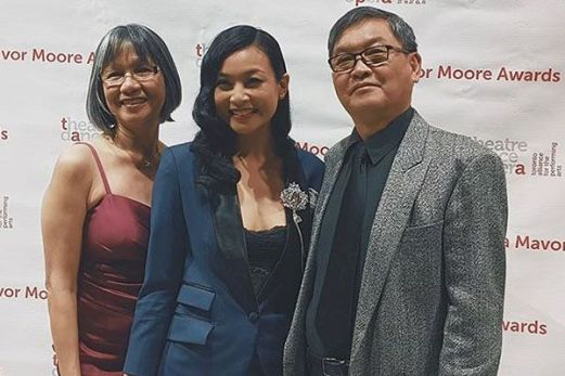 Stephanie Sy with her Parents
