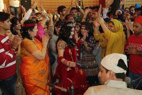 Radhe Maa With Her Bhakts