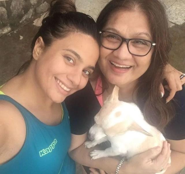 Bhavna Ruparel and her mother
