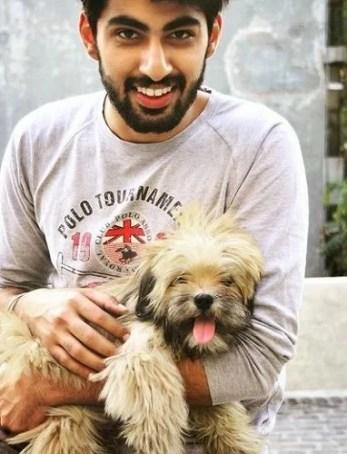 Mridul Madhok and His Pet Dog