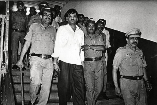 Harshad Mehta being taken away after being arrested by the Mumbai Police