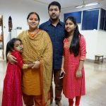 Misa Bharti with her husband and their daughters