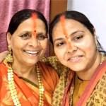 Misa Bharti with mother Rabri Devi