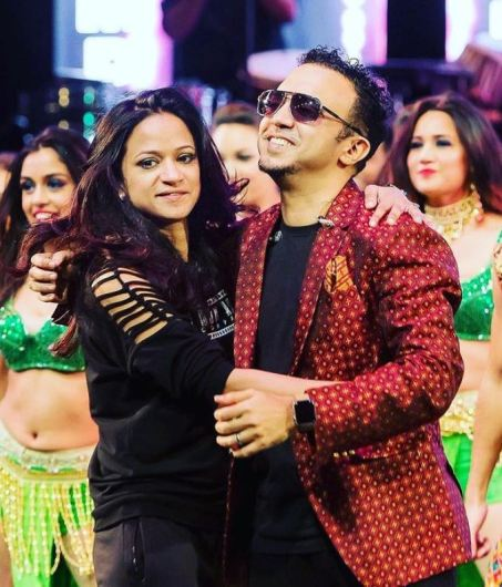 Ram Sampath with his sister