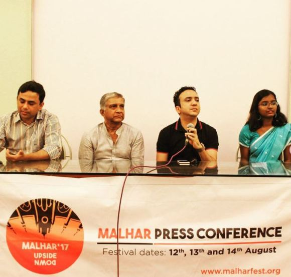 Ram Sampath at a press conference