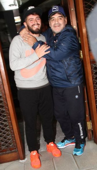 The August 25, 2016, photo when Maradona publicly recognized Sinagra as his son