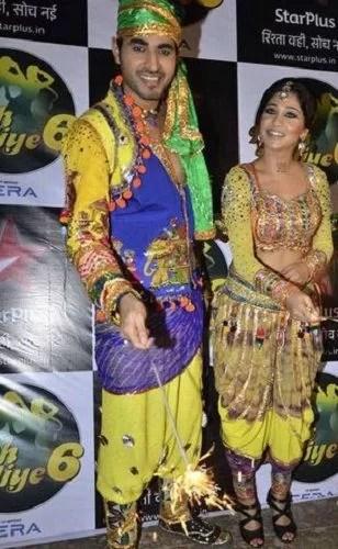 Yash Sinha with his Wife in Nach Baliye