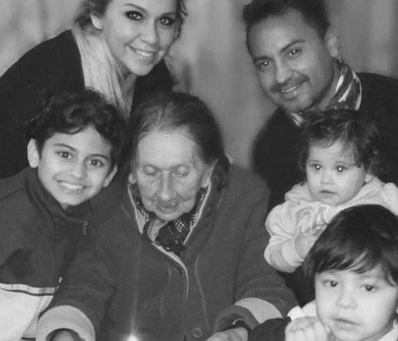 Veronica Ojeda celebrating her grandmother's 91st birthday