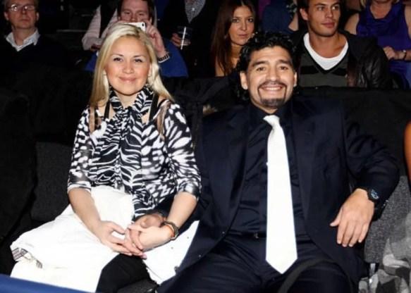 Veronica with Diego Maradona in 2011