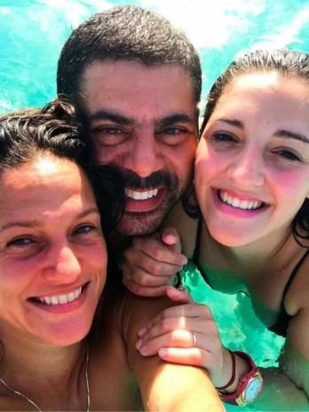 Jana Maradona with Guillermo Filmus and Valeria Sabalain