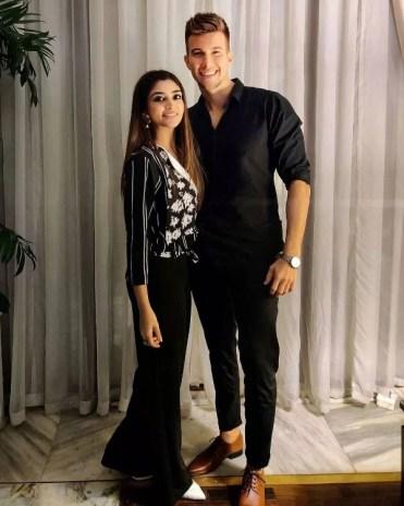 Zoya Nasir with her boyfriend Christian Betzmann