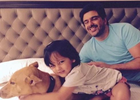 Neelam Kothari's husband and daughter