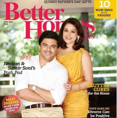 Neelam Kothari on the cover of Better Homes & Gardens magazine
