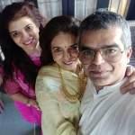 Atul Khatri with his sister (far left)