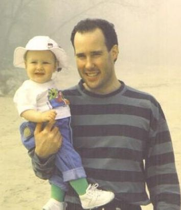 Childhood Picture of Rachel Brosnahan with her Father